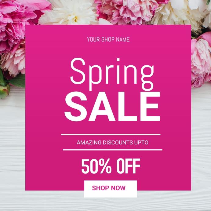 Spring sale Instagram na Post template