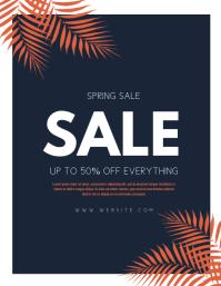 Spring Sale Flyer (US-Letter) template