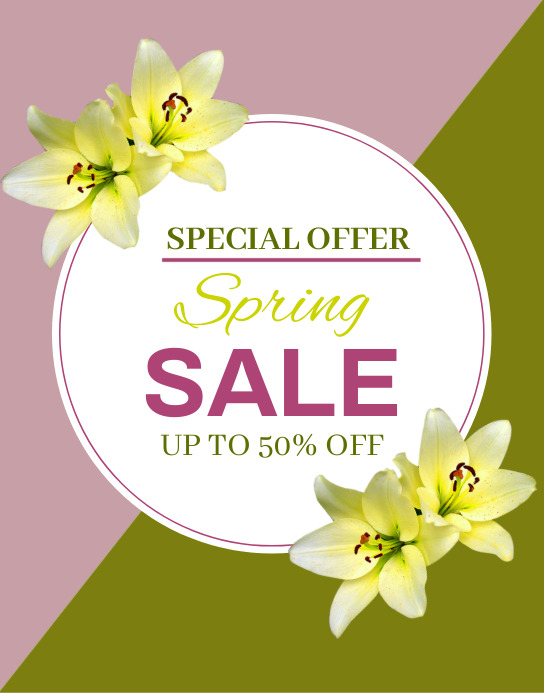 Spring Sale Poster/Wallboard template