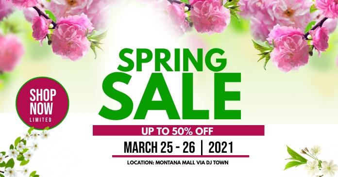 Spring sale delt Facebook-billede template