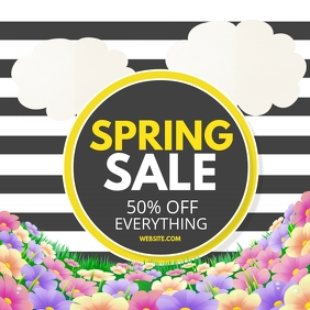 Spring sale Album Omslag template