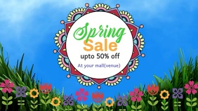 Spring Sale Digitale Vertoning (16:9) template