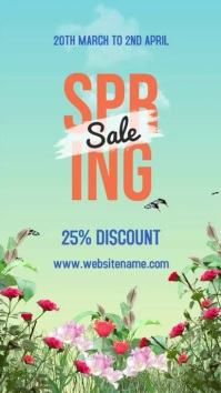 Spring Sale Instagram na Kuwento template