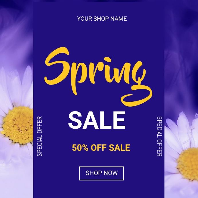 Spring sale Message Instagram template