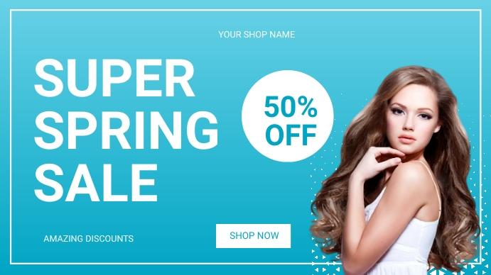 Spring sale Digitalt display (16:9) template