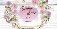 Spring Sale Umkhangiso we-Facebook template
