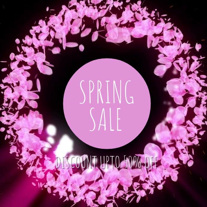 Spring sale Vierkant (1:1) template
