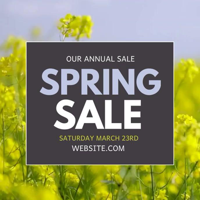 Spring sale Album Cover template