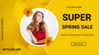 Spring sale Digitalanzeige (16:9) template