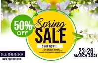Spring sale Label template