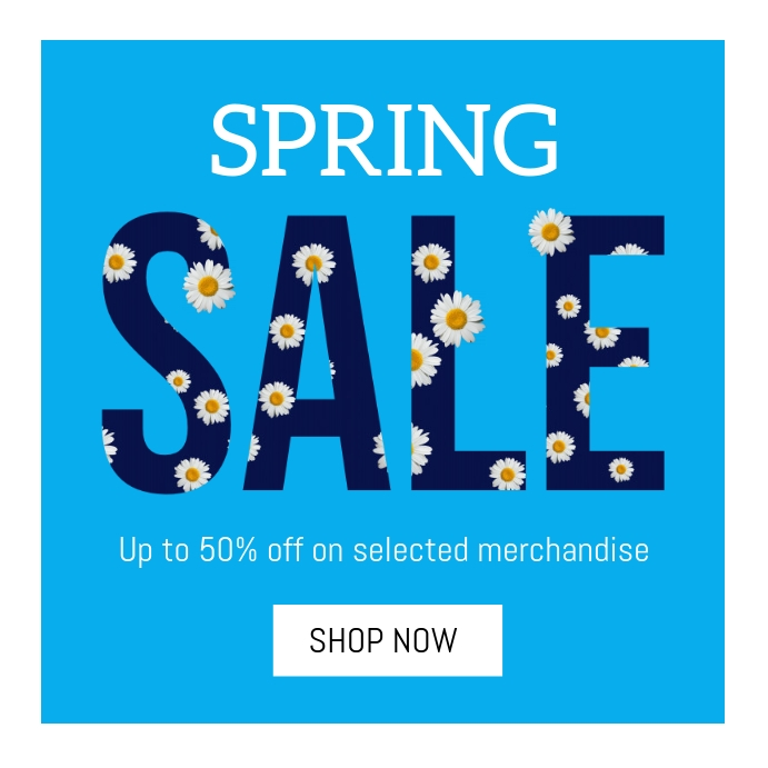 spring sale Instagram-Beitrag template