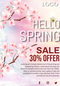 spring sale A4 template