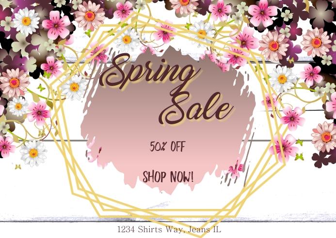 Spring Sale Postal template