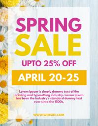 Spring Sale Folheto (US Letter) template