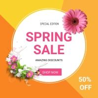 Spring sale Publicación de Instagram template