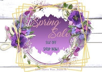 Spring Sale Carte postale template