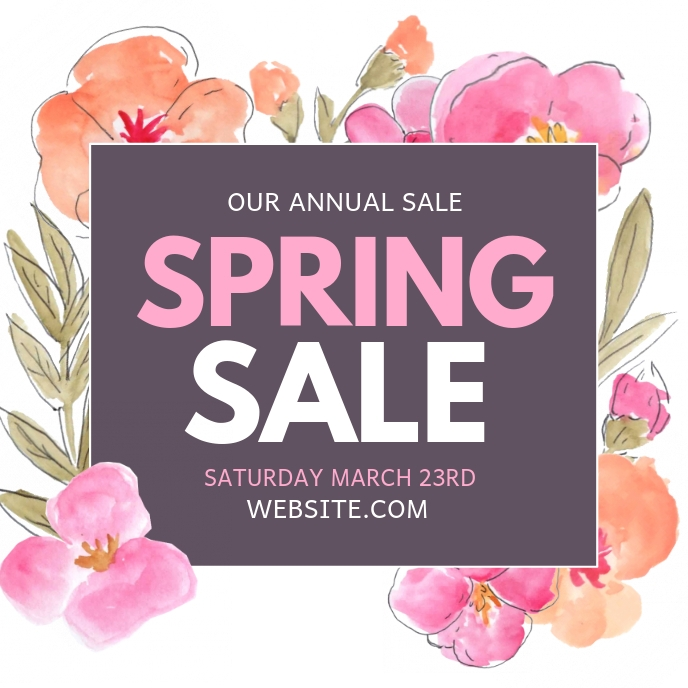 Spring sale Albumhoes template