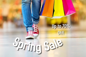 Spring Sale Event Flyer