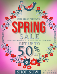 Spring Sale Event Flyer Template