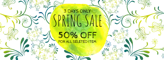 Spring Sale Facebook Cover