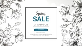 Spring sale facebook video Ad template Facebook-covervideo (16:9)