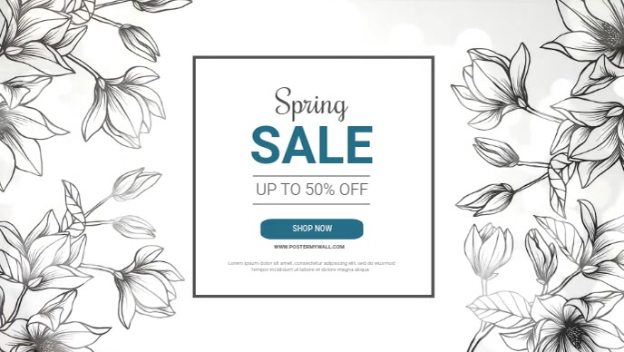 Spring sale facebook video Ad template