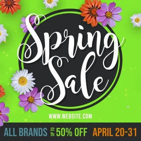 Spring Sale Fashion Advertising Video Pos Instagram template