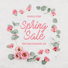 Spring Sale Flower Post