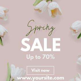 Spring sale flowers tulips template instagram