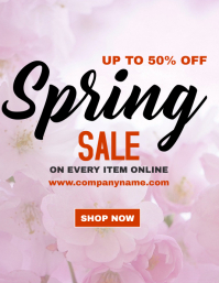 Spring sale flyer advertisement