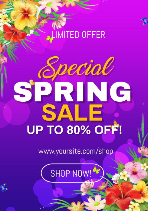 Spring Sale Flyer A4 template