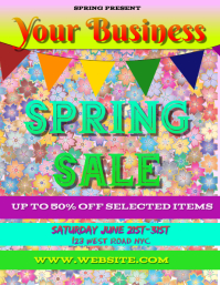 SPRING sale FLYER POSTER TEMPLATE