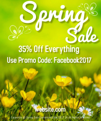Spring Sale Large Rectangle template
