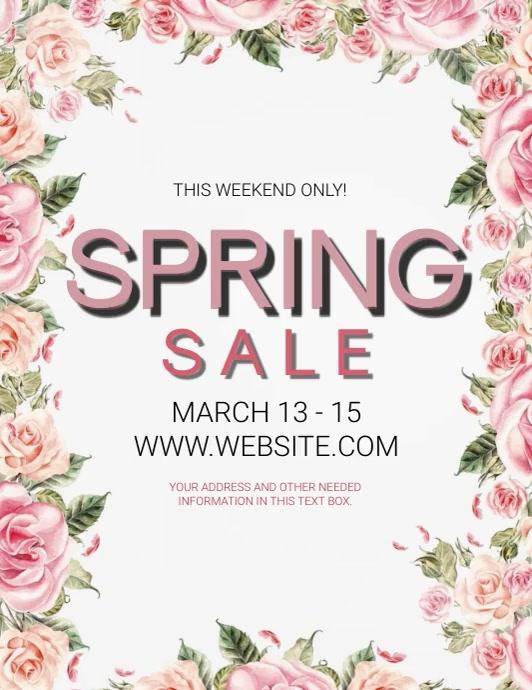 Spring Sale Flyer Template Iflaya (Incwadi ye-US)