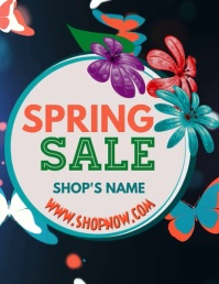 Spring Sale Flyer Template Pamflet (Letter AS)