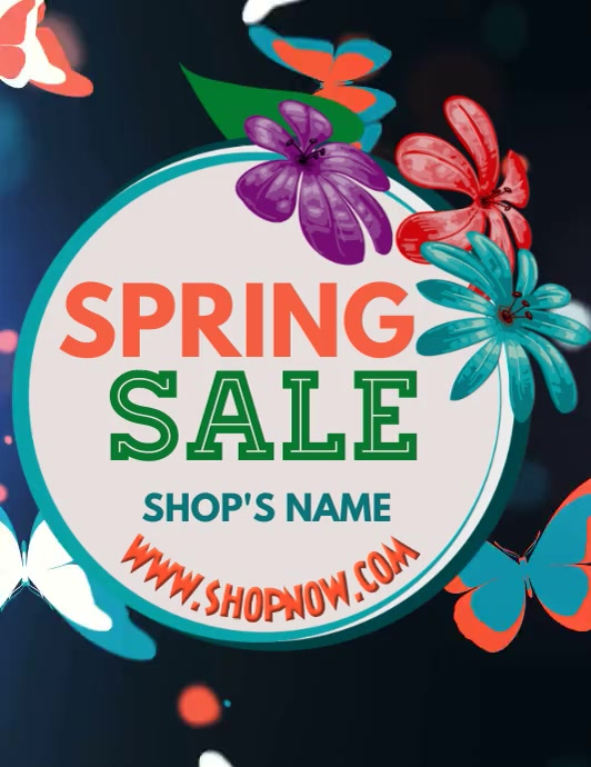 Spring Sale Flyer Template Volante (Carta US)