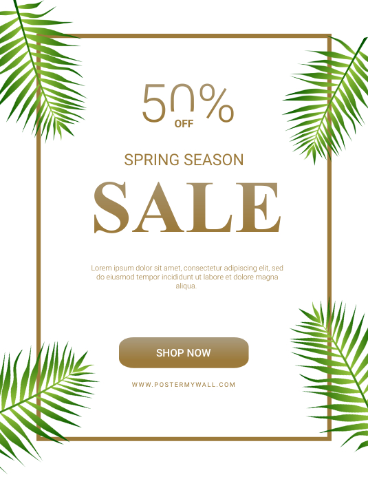 Spring sale flyer template Folder (US Letter)