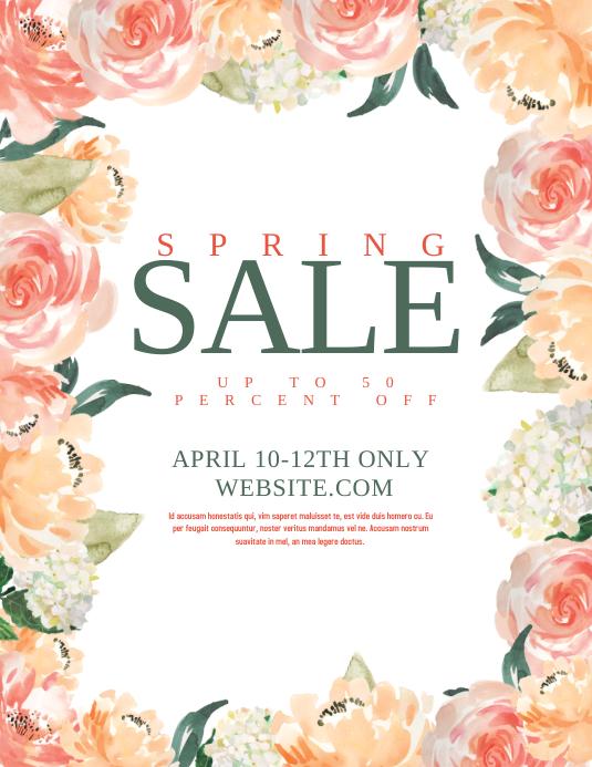 Spring Sale Folder (US Letter) template