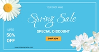 Spring sale flyers template