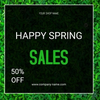 Spring sale flyers Instagram Plasing template