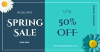 Spring sale flyers Facebook Shared Image template
