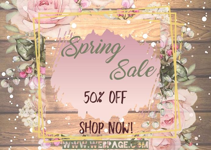 Spring Sale Insta Postal template
