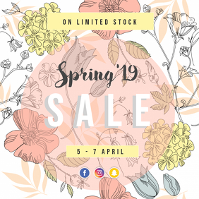 Spring sale instagram
