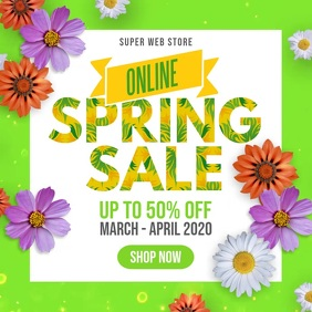 Spring Sale Instagram Facebook Square Video template