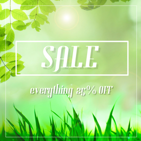 Spring Sale instagram post template