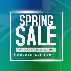 spring sale instagram promotion post template