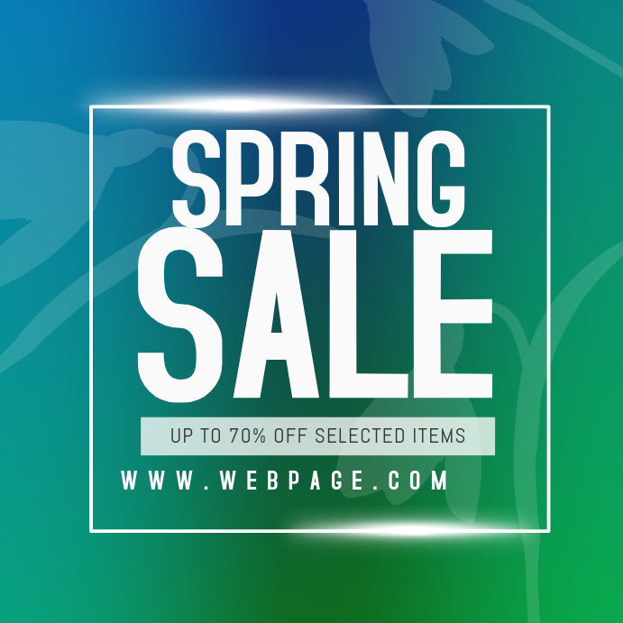 spring sale instagram promotion post template