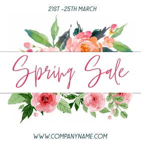 Spring Sale Instagram Template