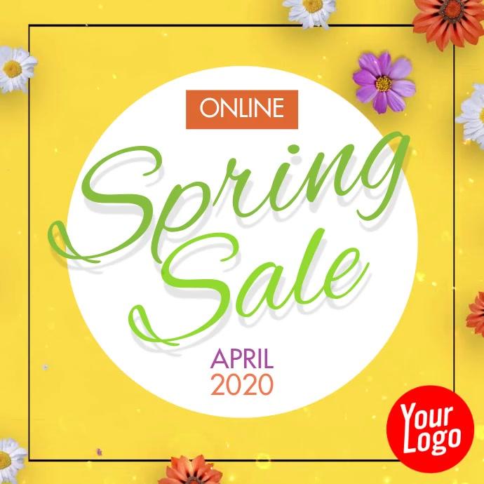 Spring Sale Instagram Video Ad Post