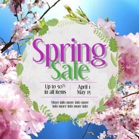 Spring Sale Instagram video Vierkant (1:1) template